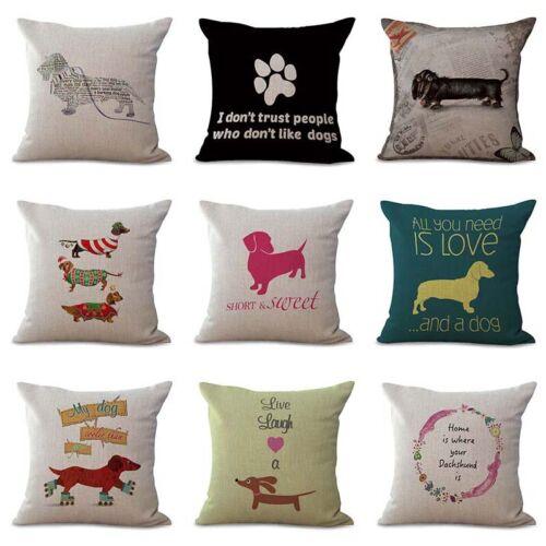 Home Decor Teckel Dachshund Pillow case Dog Funny Cuddly Cushion Cover Pillow