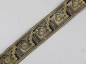 01yd-Embroidered-Trim-1-80-034-wide-Woven-Border-Sew-Jacquard-Ribbon-T344