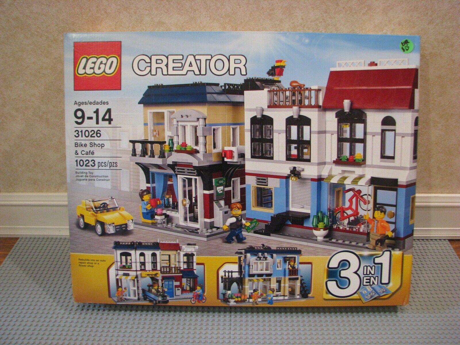 LEGO Creator Bike Shop & Café (31026) 100% all pieces, instructions, and box
