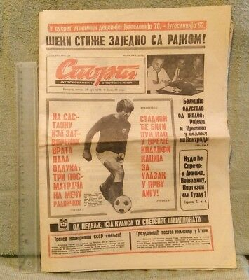 Historical Memorabilia Collectibles Radient Football Dragoslav Šekularac Edin Sprečo Mešković 1970 Sport Magazine Yugoslavi