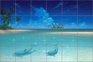 Ceramic-Tile-Mural-Backsplash-Miller-Dolphin-Undersea-Sea-Life-Art-DMA2013