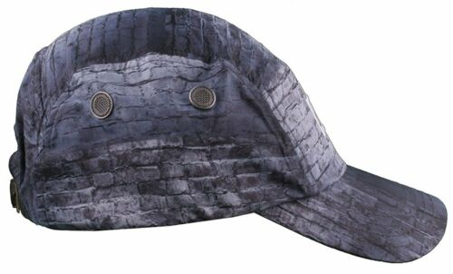 Flat Fitty Eastern Front Camp Five Panel Leather Strap Back Hat NWT