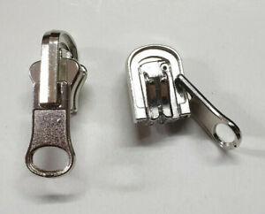 ad9bed62d1 Dettagli su Cursore Auto Bloccante x cerniera catena 5 in Metallo  reversibile - double face