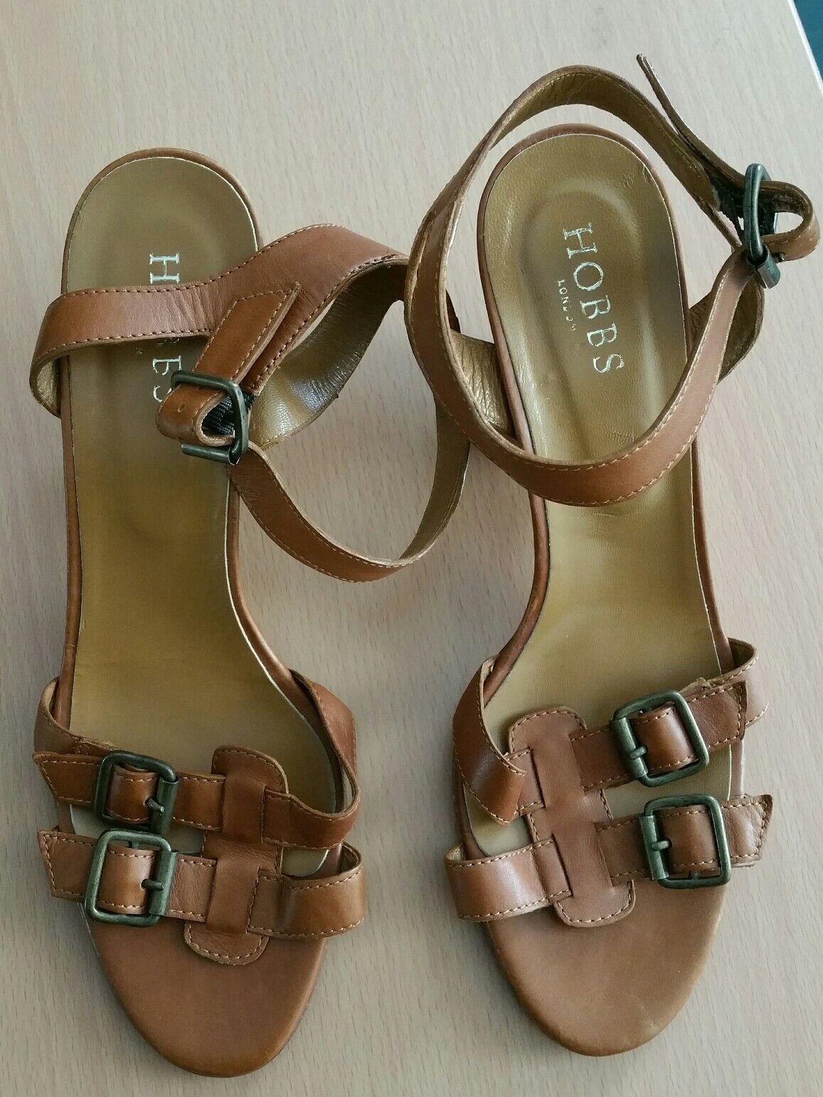 Hobbs block block block heel sandals Größe 40.5 3c7bbd