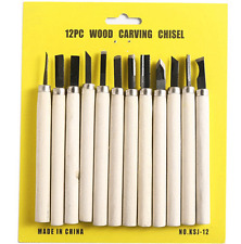 12Pcs Wood Carving Tools Hand Chisel Knife Set Woodworking Gouges Professionals