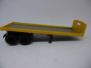 OXFORD-SCALE-1-76-MODEL-TRAILER-Classic-Flatbed-YELLOW-ideal-code-3-ref-gj