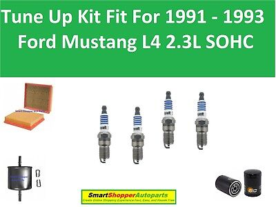 for 1991-1993 Ford Mustang 2.3L Tune Up Kit NGK Wires /& Spark Plugs