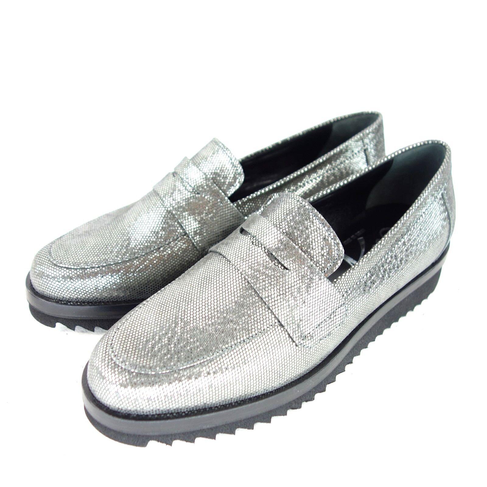 Susy señora loafer zapato bajo Fish City zapatos talla 37 37 37 41 plata cuero NP 219 nuevo  el mejor servicio post-venta