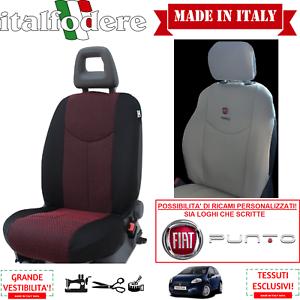 COPPIA COPRISEDILI Anteriori Specifici FIAT PUNTO Foderine Rosso 09 Tutte