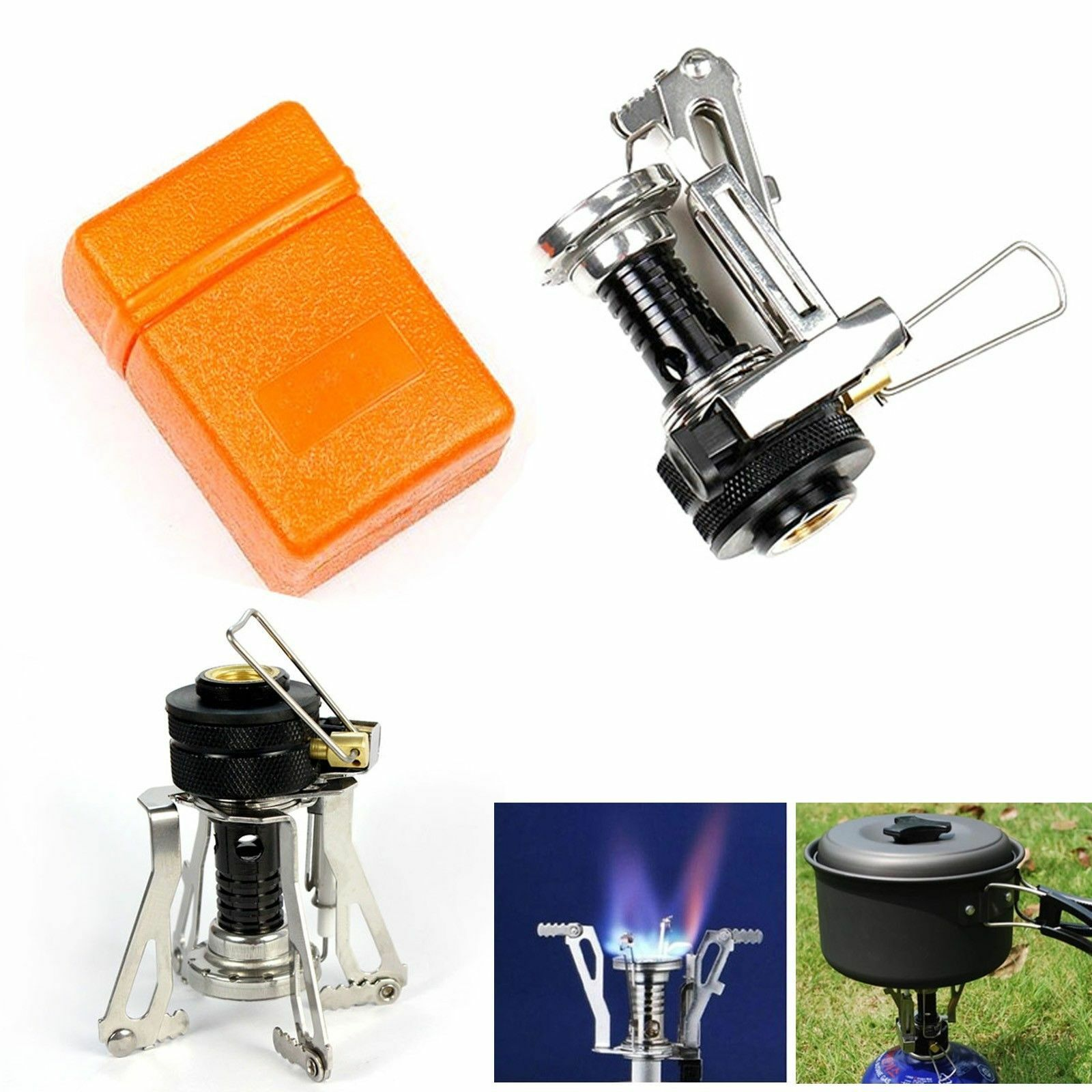 Mini Stove: USA Outdoor Ultralight Backpacking Canister Camp Stove