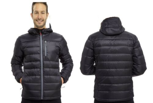 Black Puffa Padded Waterproof Sterlingsports® Insulated Jacket Mens Winter Hooded Coat afHwqfS4