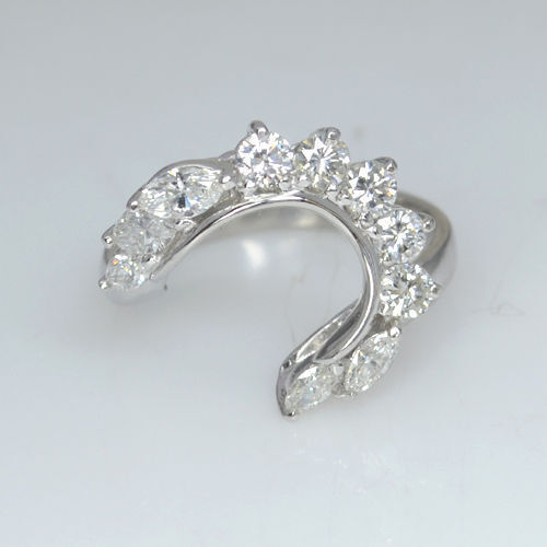 5500 Value Platinum 900 Xmas Day Natural Diamond Handmade Ring Solitaire