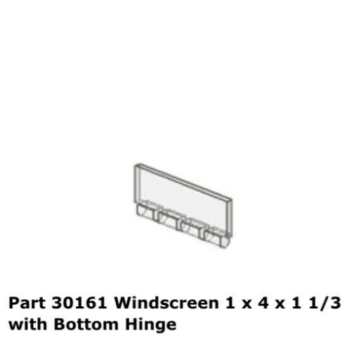 Trans Clear Windscreen 1 X 4 X 1-1//3 With Bottom Hinge 30161 7133 LEGO Parts 1
