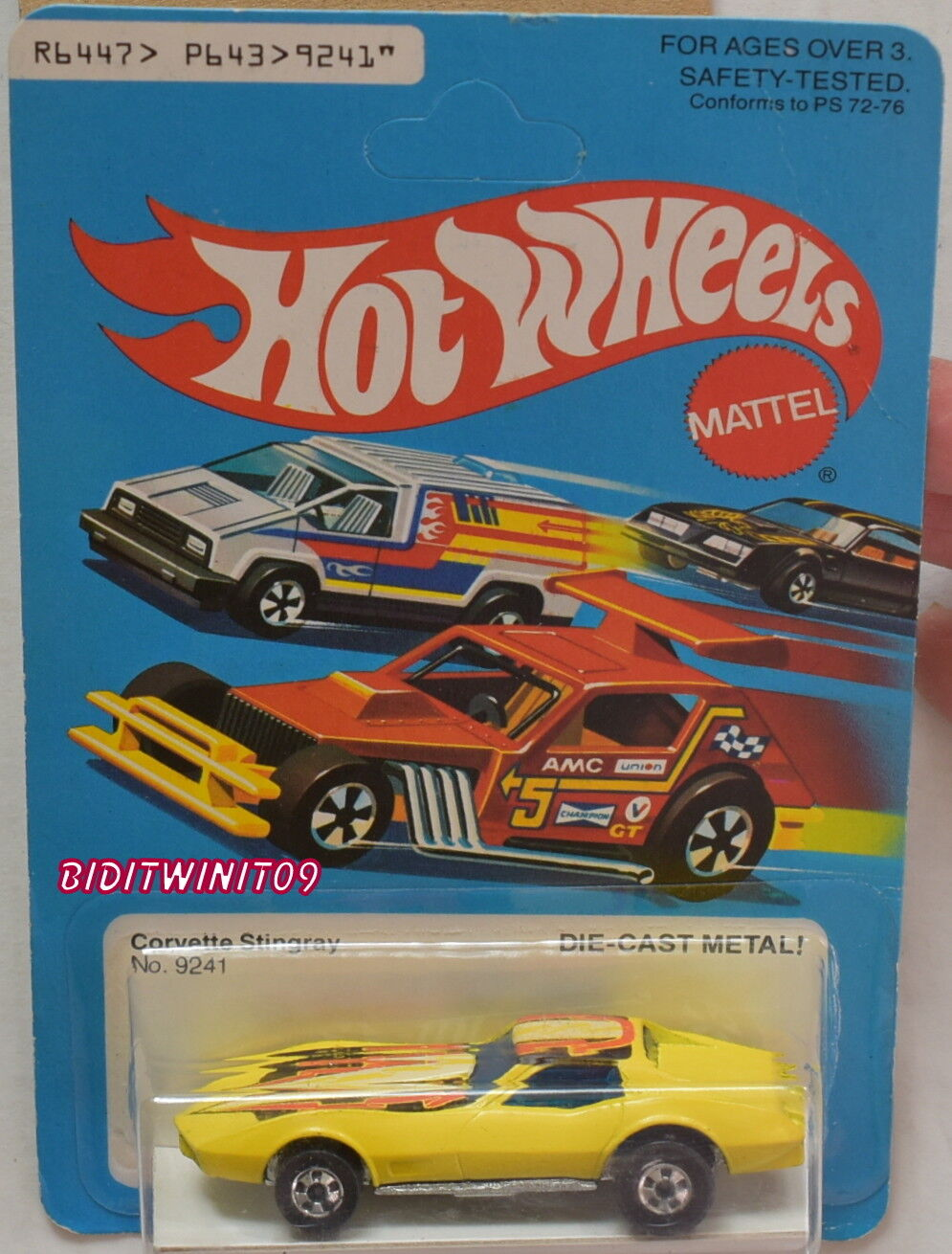 Hot Wheels 1979 Corvette StinGris Unpunch  9241 Hong Kong con +