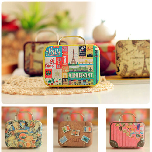 Europe Style Vintage Small Suitcase Candy Gift Storage Box Wedding Favor Box