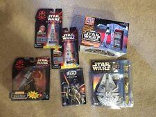 Star Wars Toy Lot - AT-AT Remote Control C3PO Darth Maul Luke Key Chain Anakin