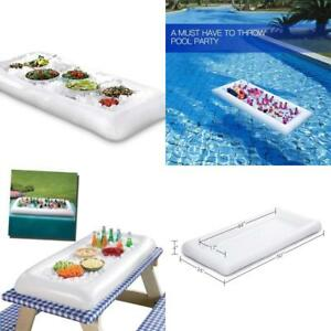 Details About Inflatable Salad Bar Buffet Ice Cooler Serving Food Drink Holder For Party Pool