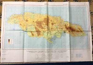 Vintage Military Map Jamaica RAF War Office Air Force MOD EBay - Vintage map of jamaica