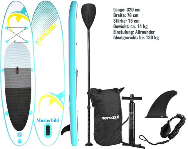 Nemaxx Stand Up Paddle Board (SUP), aufblasbar 320 x 78 x 15 cm (16)
