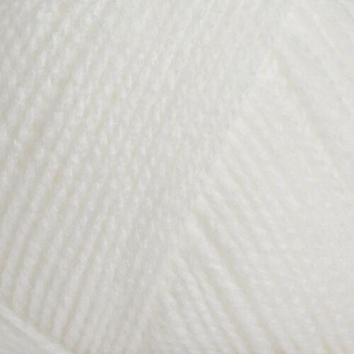 James Brett Bébé 3 Plis Fil Super Doux Acrylique Laine 1 5 Ou 10 Boules 100 g Blanc