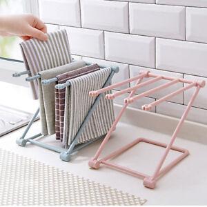 Kitchen Sink Folding Washing Towel Rag Drainer Holder Storage Rack Hanging Uk Ebay