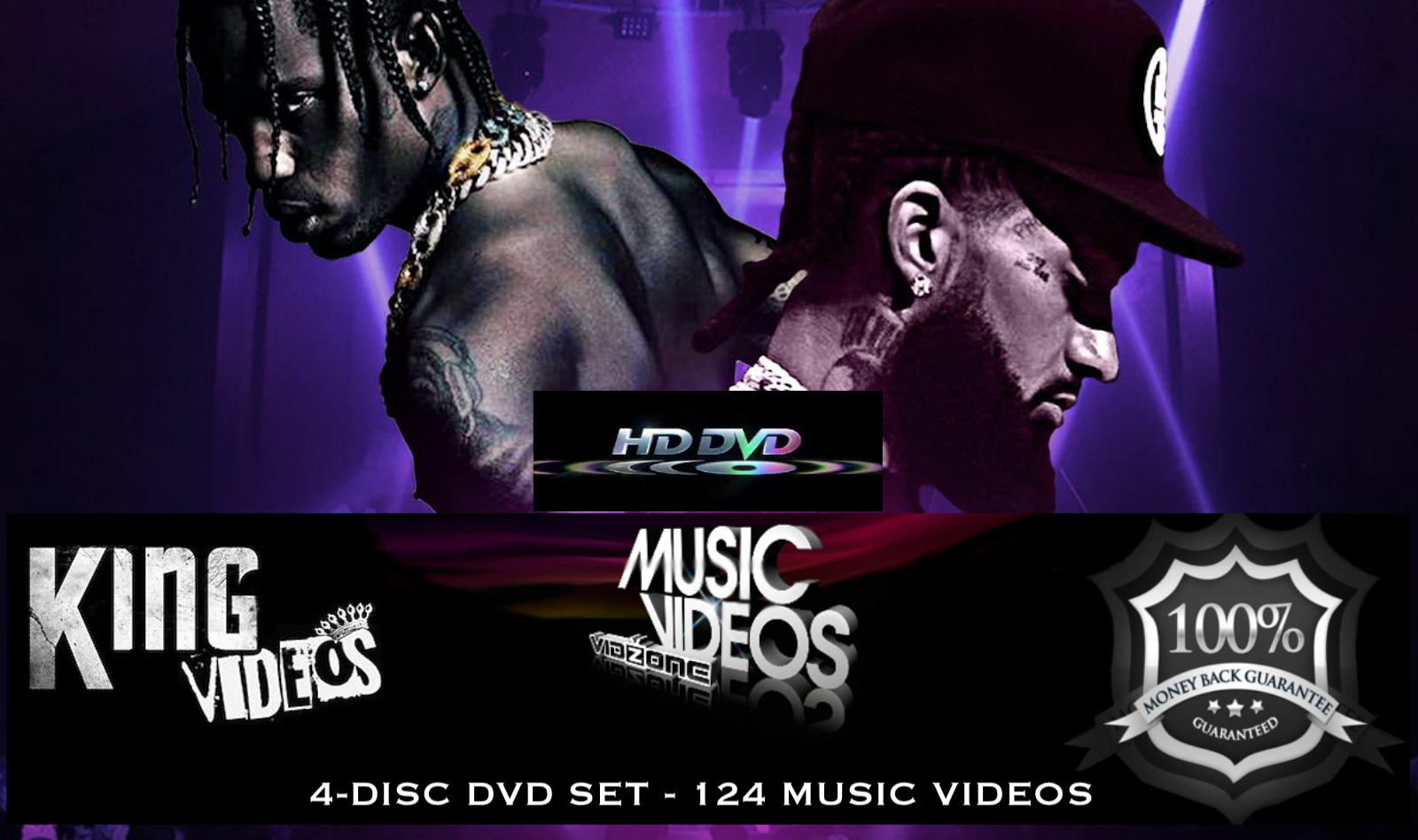 2019 Rap Hip Hop & RnB 124 Music Videos - 4 DVDs + FREE