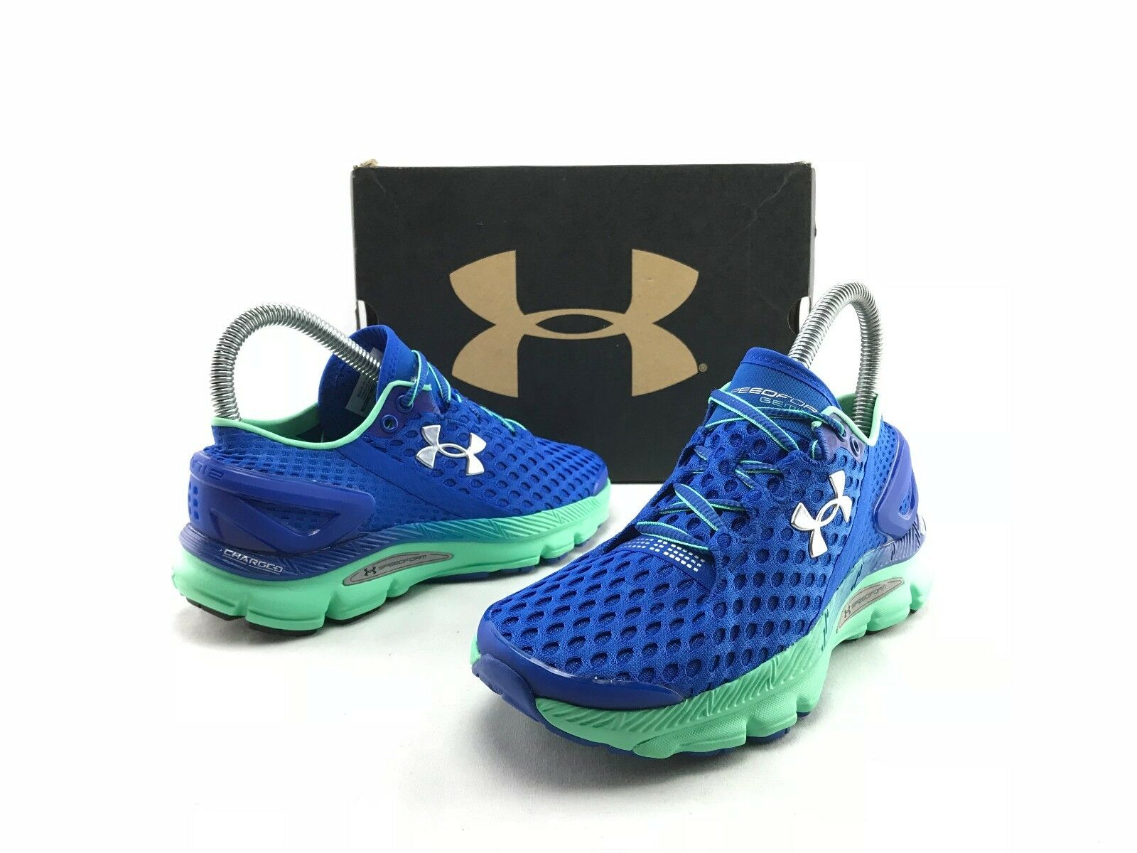 NEW Under Armour Speedform Gemini 2 femmes 's bleu Running Sneakers US 5 B675