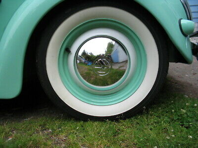 """CLASSIC STYLE 15/"""" WIDE WHITE WALL PORTAWALL TIRE INSERT TRIM SET OF 4 FREE SHP"""