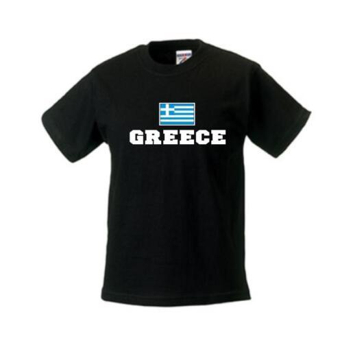 Greece Bambini T-Shirt Grecia paesi SHIRT flagshirt wms02-23f