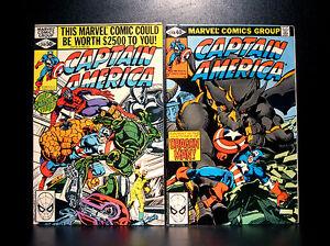 COMICS-Marvel-Captain-America-248-249-1980-1st-Bernadette-Rosenthal-app