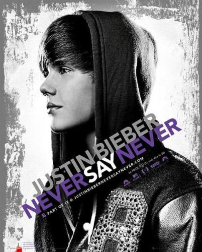 Never Say Never Mini Poster 40cm x 50cm new and sealed Justin Bieber