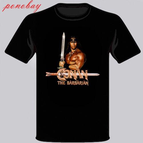 New Conan the barbarian Retro Movie Men/'s Black T-Shirt Size S M L XL 2XL 3XL