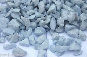Ice Blue Quartz Glass Chippings Nuggets Memorial Vase Garden Craft 8-12mm 7216