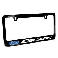 Ford Escape Black Metal License Plate Frame, Made In Usa, Official Licensed