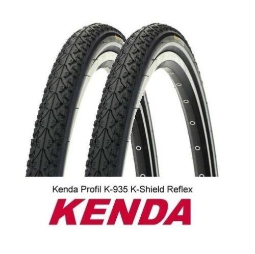 47-622 K-SHIELD Pannenschutz REFLEX 2 x Fahrrad Reifen Decke KENDA K-935