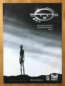 Wild-9-Playstation-1-PS1-PSX-1997-Vintage-Print-Ad-Poster-Official-Doug-Tennapel