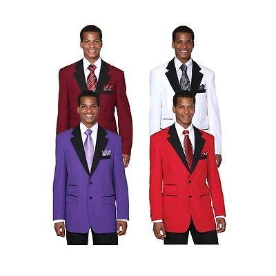 Men's Two Button Poplin Dacron Fashion Suit 7022 Solid Color Size 38R-56L