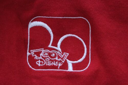 RARE Embroidered Toon Disney Red POLO SHIRT XL Mic