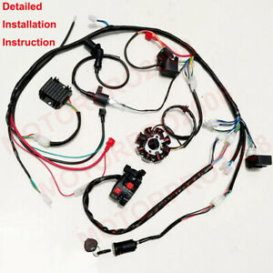 Details about BUGGY WIRING HARNESS LOOM GY6 150CC ATV STATOR ELECTRIC on honda carburetor diagram, single line electrical diagram, microprocessor block diagram, circuit diagram, atv brakes diagram, atv clutch diagram, plymouth voyager transmission diagram, atv parts diagram, atv solenoid, atv frame diagram, atv lighting, yamaha warrior 350 carburetor diagram, atv tires diagram, fuse box diagram, honda gx120 parts diagram, atv repair diagram, atv starter diagram, honda accord cooling system diagram, honda parts lookup diagram, atv schematics diagrams,