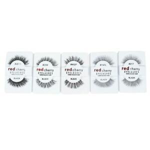 Lashes-Handmade-100-False-Eyelashes-Makeup-Eye-Red-STYLE-Cherry-L3O3