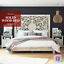 thumbnail 1 -  Platform Bed Brocton Rustic Solid Wood With Headboard Furniture BoutiQ