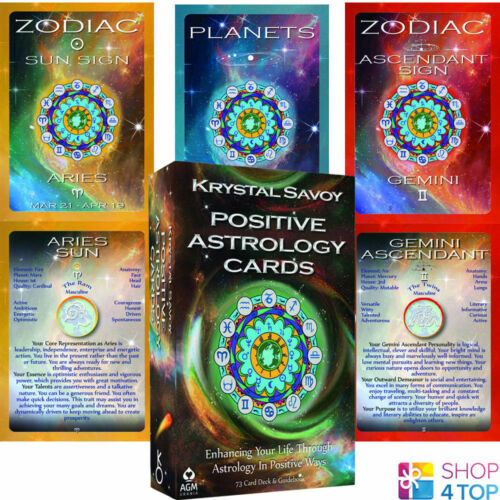 POSITIVE ASTROLOGY CARDS KRYSTAL SAVOY ESOTERIC FORTUNE TELLING AGM NEW