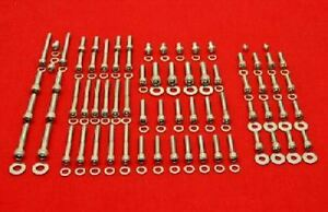 YAMAHA 1970-1975 DS7 R5 RD250 RD350 POLISHED STAINLESS ENGINE BOLT SCREW KIT SET