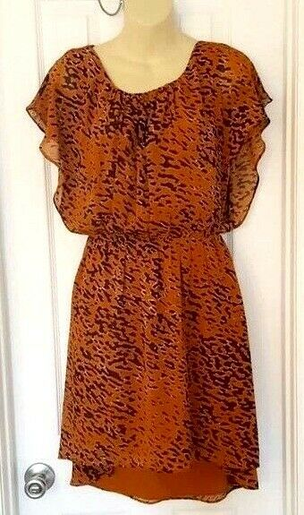 118 by WALTER BAKER Womens Dress Size Small High Low Animal Print Elastic Waist