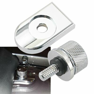 Black Rear Fender Seat Bolt Tab Screw Mount Knob Cover For Harley All 1996 up US