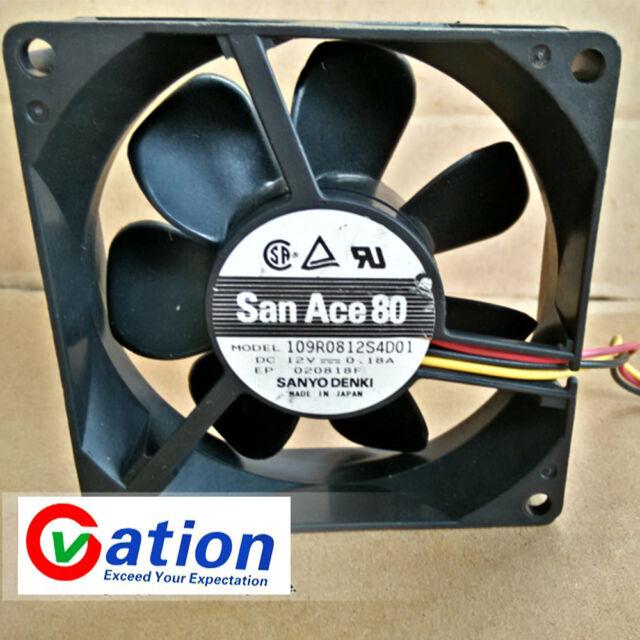 1pc SANYO 9A0812G4D031 Equipment fan DC12V 0.38A 3wire 80*80*25MM   #XX