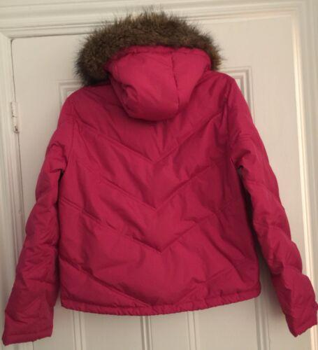 pelliccia in M York Hot Down Active Trim Karan Autentica Dkny Pink finta Jacket New Donna w144qC