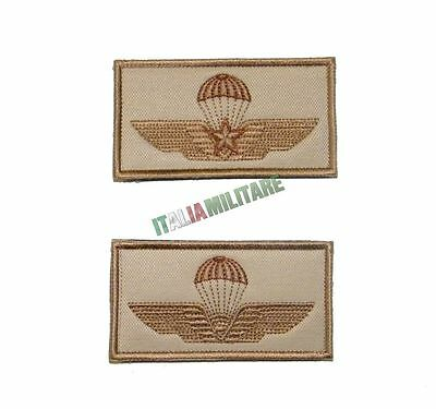 Patch Toppa Brevetto Paracadutista Civile o Militare TAN Desert Sabbia