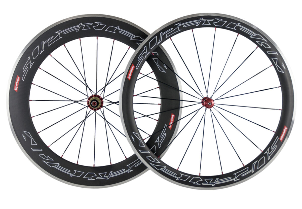 Superteam 50mm&80mm Carbon Wheelset Aluminum Brake  Surface Road Bike Wheels 700C  order now lowest prices