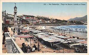 Banos San Sebastian.Details About Spain Postcard San Sebastian Playa De Banos Y Subida Al Paseo